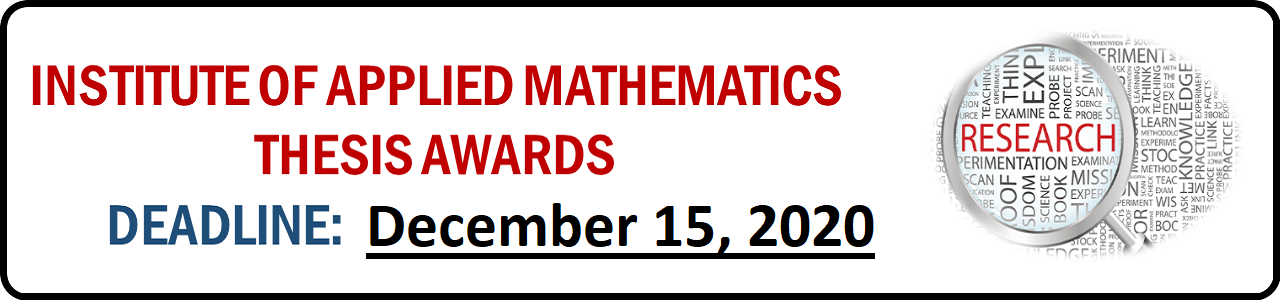 Institute of Applied Mathematics Thesis Awards