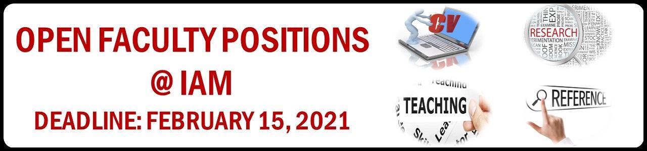 Open Faculty Position