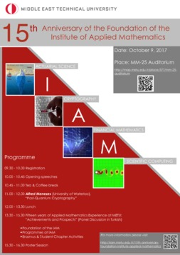15th Anniversary of the Foundation of  the Institute of Applied Mathematics